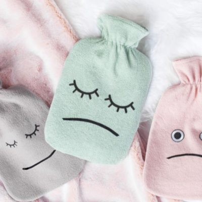 Wärmflaschenbezug mit Gesicht Wärmflasche kostenlose Schnittmuster Gratis-Nähanleitung