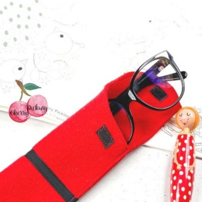 Brillenetui kleine Geschenke praktisches kostenlose Schnittmuster Gratis-Nähanleitung
