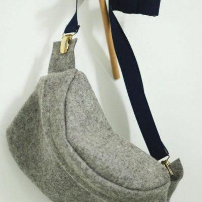 Filz-Bauchtasche Umhängetasche Hüfttasche Bag Pocket Bag kostenlose Schnittmuster Gratis-Nähanleitung