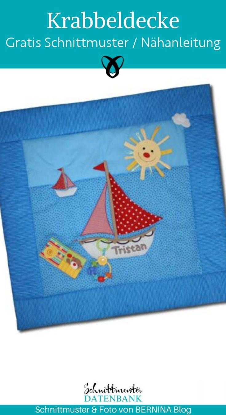 Krabbeldecke Entdecker Spezialeffekte Spielen Baby Erstausstattung Lernen Geschenke zur Geburt kostenlose Schnittmuster Gratis-Nähanleitung