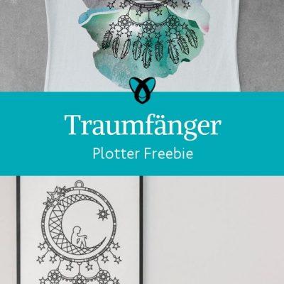Plotter Freebie Traumfänger Romantisch spirituell kostenlose Plottdatei kostenlose Schnittmuster Gratis-Nähanleitung