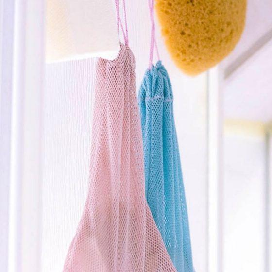 Seifensäckchen festes Shampoo nachhaltigkeit Nähen für Zuhause kostenlose Schnittmuster Gratis-Nähanleitung Baden Haarewaschen