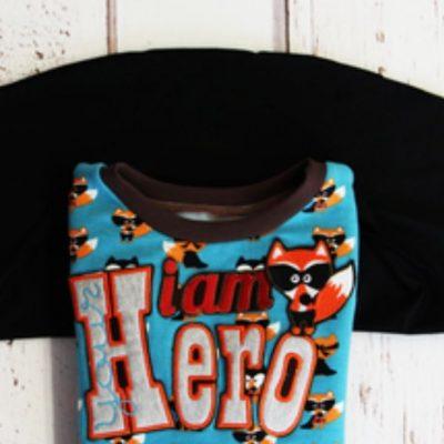 Umhang Cape für Kinder Superheld Super hero kostenlose Schnittmuster Gratis-Nähanleitng Verkleiden Fasching