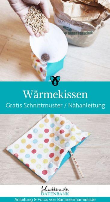 Wärmekissen Kirschkernkissen Dinkekissen kleine Geschenke kostenlose Schnittmuster Gratis-Nähanleitung