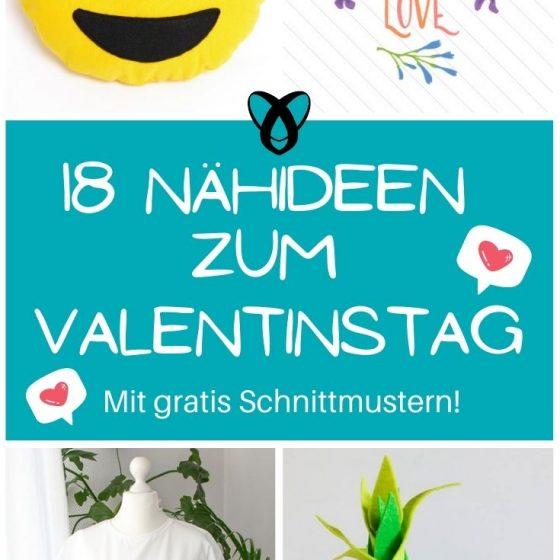 Valentinstag Geschenke Liebe Liebeserklärung Für den Liebsten für die Liebste kostenlose Schnittmuster Gratis-Nähanleitung
