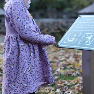 Winterteilchen Kinderkleid Mädchenkleid Langarmkleid Jerseykleid kostenlose Schnittmuster Gratis-Nähanleitung