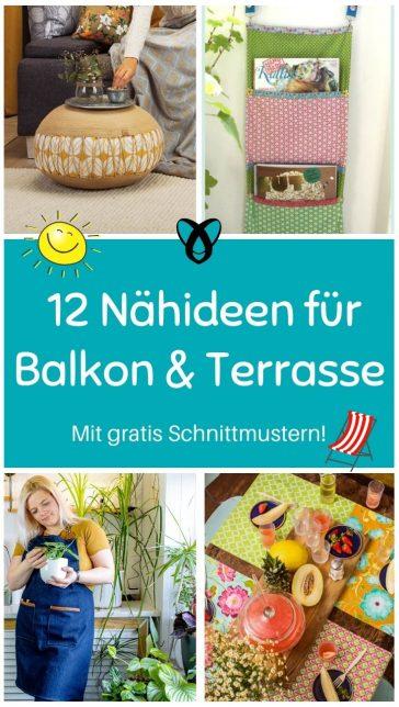 Balkon Garten Essen Tischsets Tischdecke Uebertopf Sitzkissen raffrollo grillen grillschuerze pflanzen kostenlose schnittmuster gratis naehanleitung