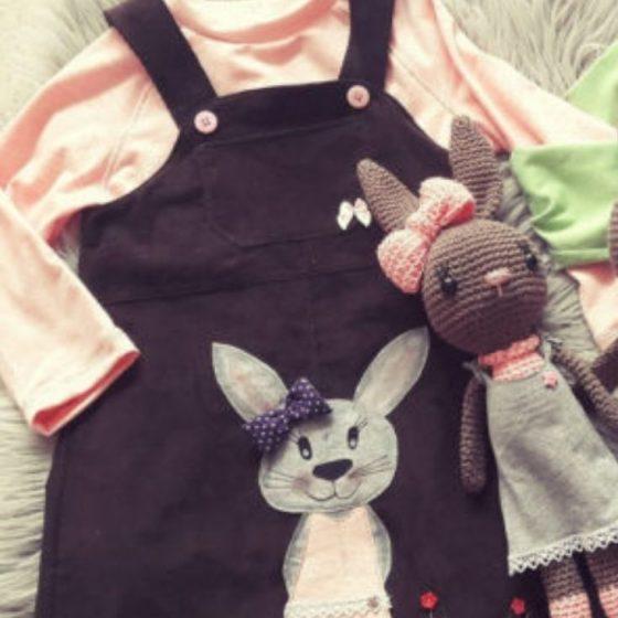 Hasen-applikation ostern kinderkleidung veschoenern applizieren hase kostenlose Schnittmuster gratis naehanleitung