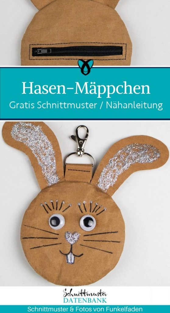 Hasenmaeppchen hase ostern etui taeschchen kosmetiktasche kindertasche kostenlose schnittmuster gratis-naehanleitung