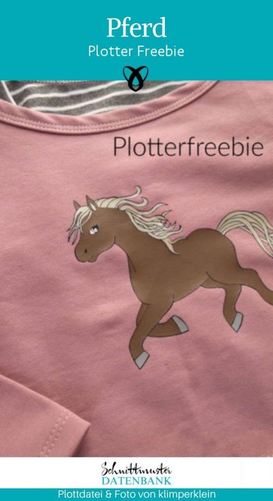 Plotterfreebie Pferd für Maedchen für Kinder Pferdelieber kostenlose Schnittmuster gratis naehanleitung