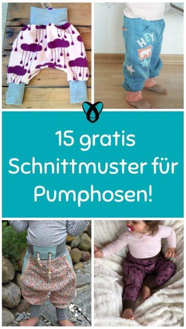 Pumphosen Baby Kind Kleinkind Erwachsener Haremshose bequeme Hose zum Krabbeln Toben jerseyhose Bewegungsfreiheit kostenlose Schnittmuster Gratis-Naehanleitung