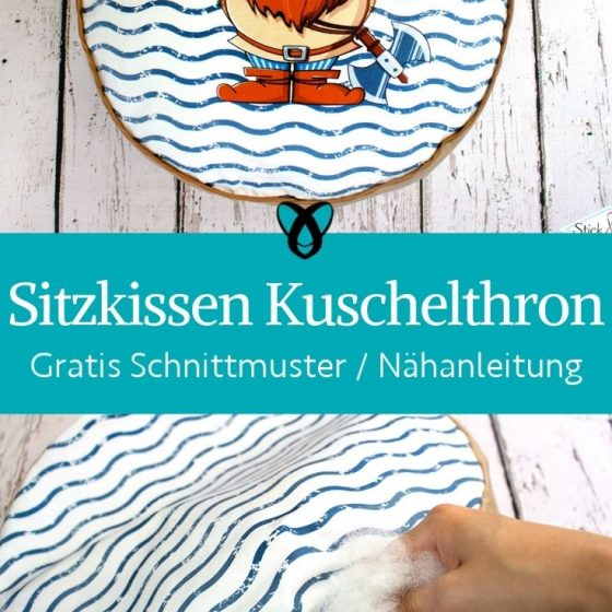 Sitzkissen Kuschelthron Panel Paneel kostenlose Schnittmuster Kinderzimmer Kuschelecke gratis naehanleitung