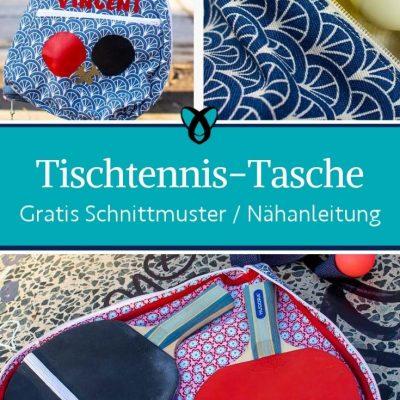 Tischtennis Tasche Spielen Draußen aktiv sport geschenke kostenlose schnittmuster gratis naehanleitung