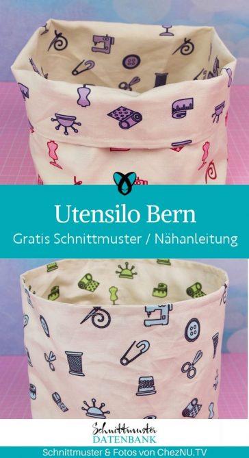 Utensilo Bern wendeutensilo Brotkorb Tasche Aufbewahrung praktisch kostenlose schnittmuster Gratis Naehanleitung