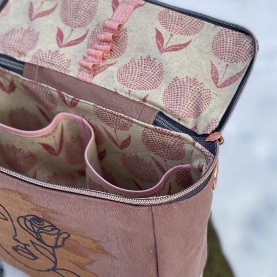 kosmetiktasche neccessaire tasche mit aufteilung praktisches naehen kostenlose schnittmuster gratis naehanleitung