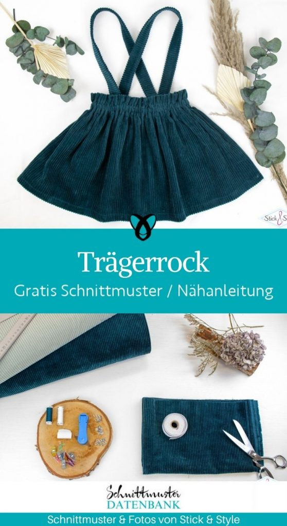 traegerrock rock kinderrock mit traegern kinderkleidung babykleidung kostenlose schnittmuster gratis naehanleitung