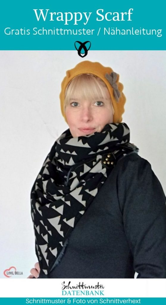 wrappy scarf tuch schal dreieck accessoire kostenlose schnittmuster gratis naehanleitung