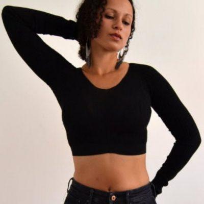 Crop top enges oberteil upcycling strumpfhose leggings kostenlose schnittmuster gratis naehanleitung