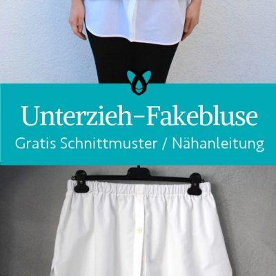 Fake Unterziehbluse für Damen Accessoires kostenlose Schnittmuster Gratis Naehanleitung