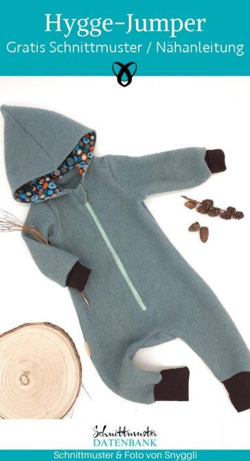 Hygge Jumper Strampler Overall Baby naehen Anzug schlafanzug kostenlose schnittmuster gratis naehanleitung