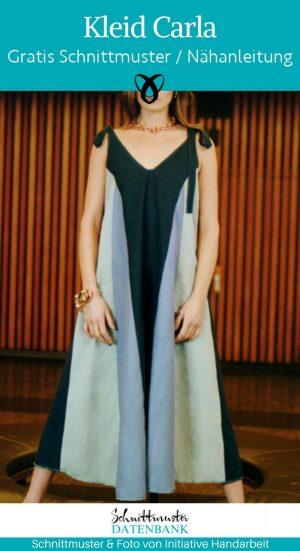 Kleid Carla Trägerkleid Midikleid Leinenkleid Sommerkleid Damenbekleidung weit kostenlose Schnittmuster Gratis-Naehanleitung