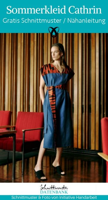 Sommerkleid Cathrin Damenkleid Midikleid bequem kostenlose Schnittmuster gratis naehanleitung