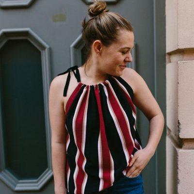 Sommertop oberteil damen frauen shirt kostenlose schnittmuster gratis naehanleitung