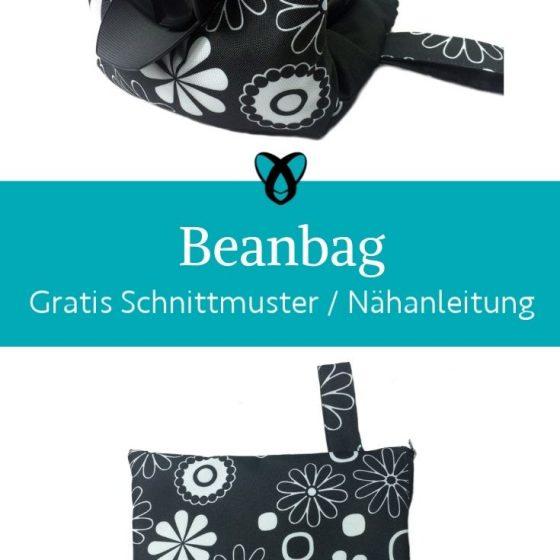 beanbag bohnentasche kleines kissen positionieren handy kamera smartphone kostenlose schnittmuster gratis naehanleitung