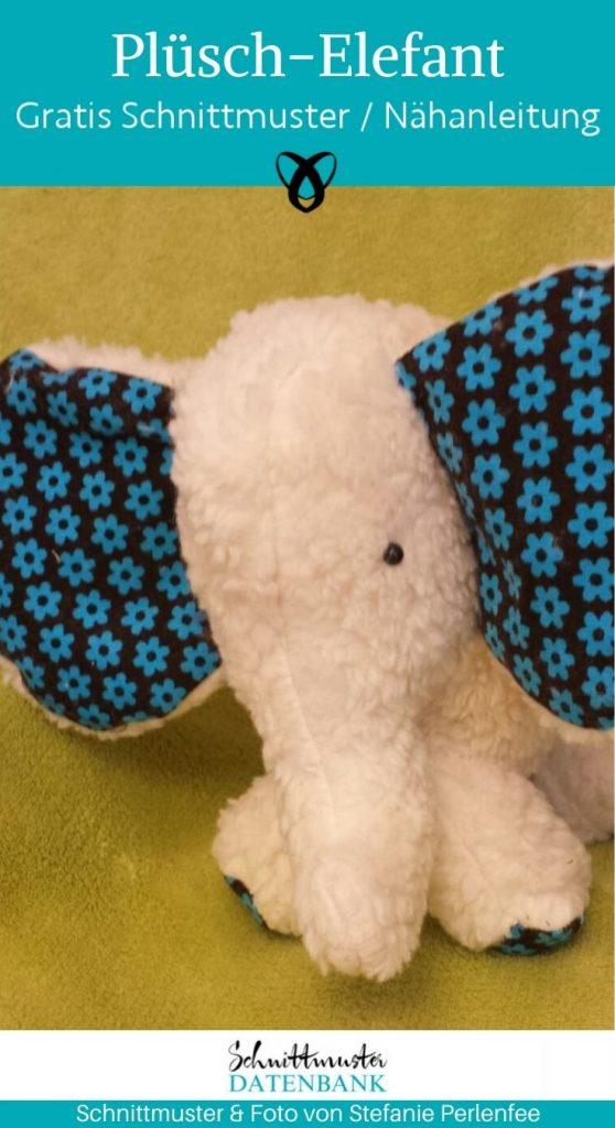 elefant plueschelefant kuscheltier plueschtier stofftier kinderzimmer spielzeug kostenlose schnittmuster gratis naehanleitung