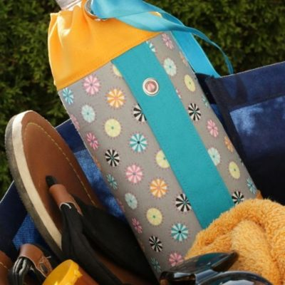 flaschentasche kuehltasche flasche warmhalten kuehlen unterwegs ausflug fahrrad draußen natur kostenlosen schnittmuster gratis naehanleitung