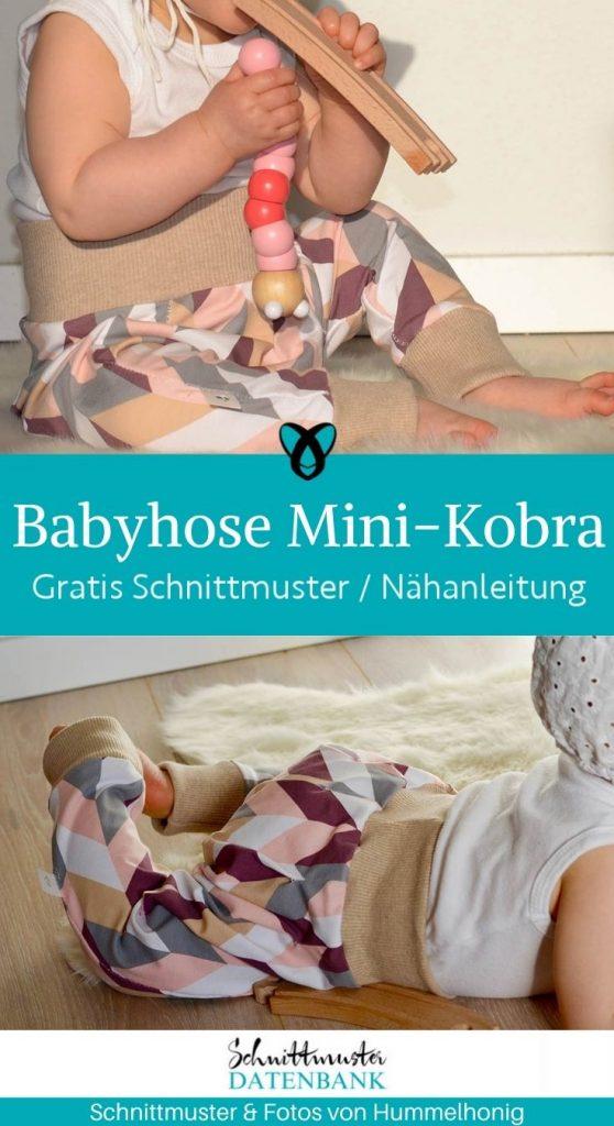 Babyhose Mini-Kobra Pumphose Jerseyhose haremshose Erstausstattung Babykleidung kostenlose schnittmuster gratis naehanleitung