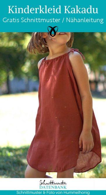 Kinderkleid Kakadu Sommerkleid luftig tunika traegerkleid baumwolle webware musselin kosenlose schnittmuster gratis naehanleitung