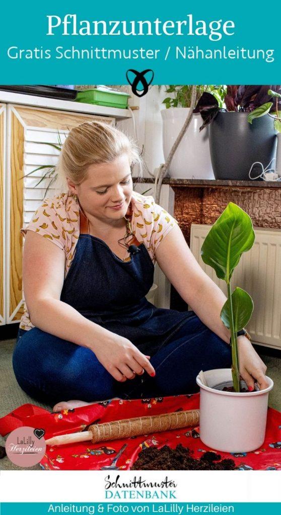 Pflanzunterlage Pflanzen Garten Erde Dreck vermeiden Balkon fuer zuhause kostenlose schnittmuster gratis naehanleitung