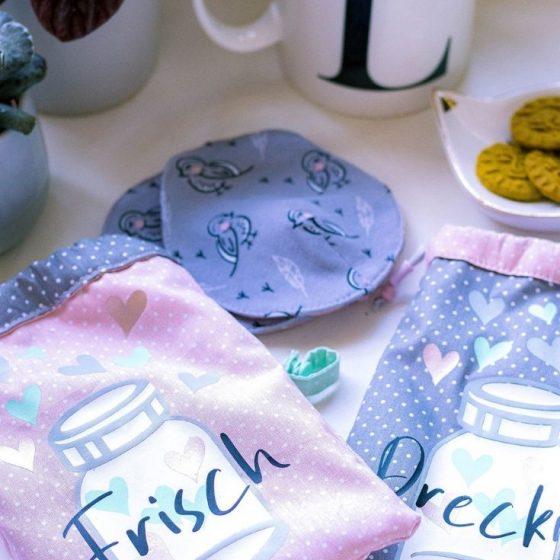 Stillset Mamar Stilleinlagen Stillclips Saeckchen zur geburt stillen Geschenk Mama erstausstattung kostenlose schnittmuster gratis naehanleitung