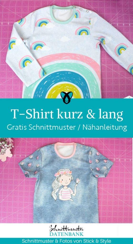 T shirt kindershirt longsleeve kurzarm langarm knopfleiste schulter kostenlose schnittmuster baby kleinkind gratis naehanleitung