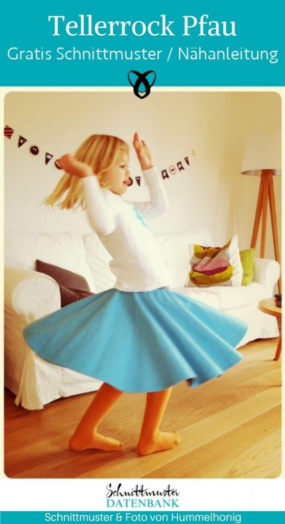 Tellerrock Pfau Kinderrock Mädchenrock Schwingen weiter rock tanzen kostenlose schnittmuster gratis naehanleitung