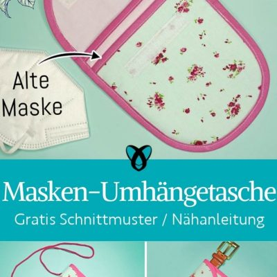 Umhaengetasche Masken FFP2 Corona Bauchbeutel Guerteltasche zwei Faecher etui kostenlose schnittmuster gratis naehanleitung