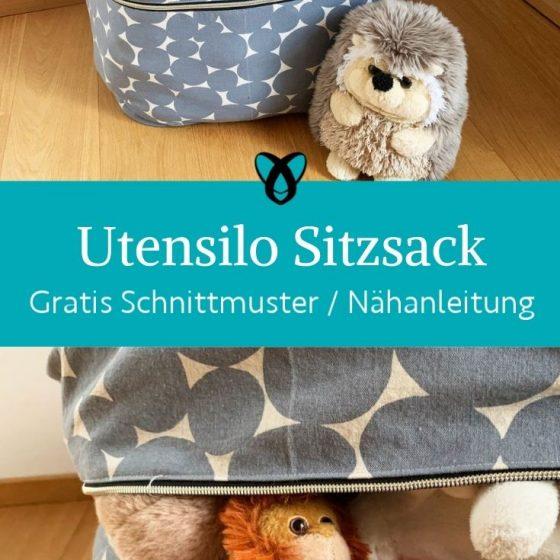Utensilo Sitzsack Stofftiere verstauen Aufbewahrung Kinderzimmer praktisches naehen kostenlose Schnittmuster gratis naehanleitung