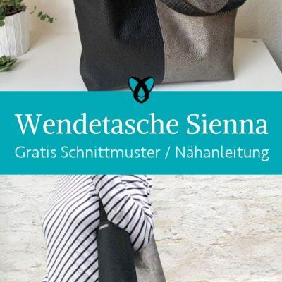Wendetasche Handtasche Shopper Shoppingbag Damentasche Ledertasche kostenlose schnittmuster gratis naehanleitung