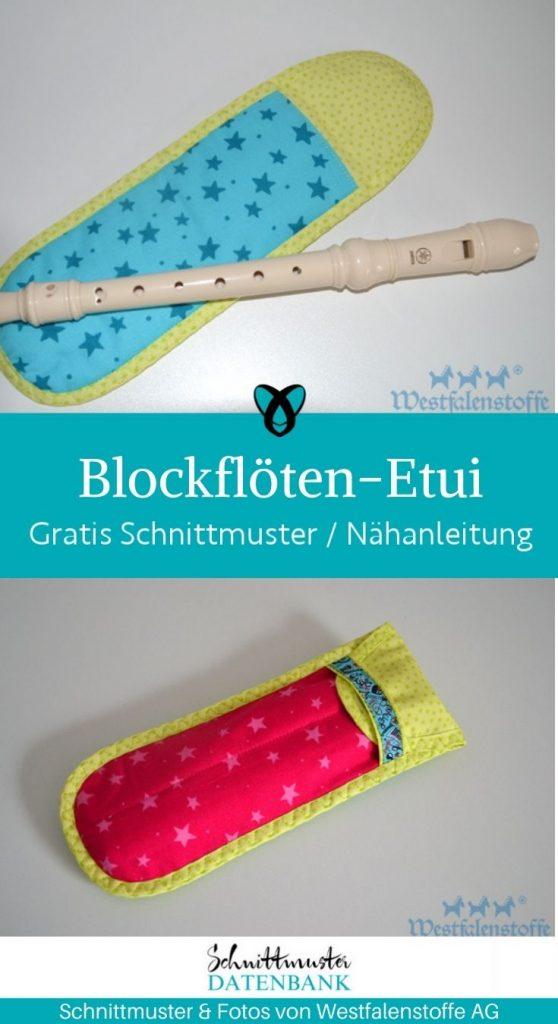 blockfloeten euti tasche floete musikunterricht kinder schule kostenlose schnittmuster gratis naehanleitung
