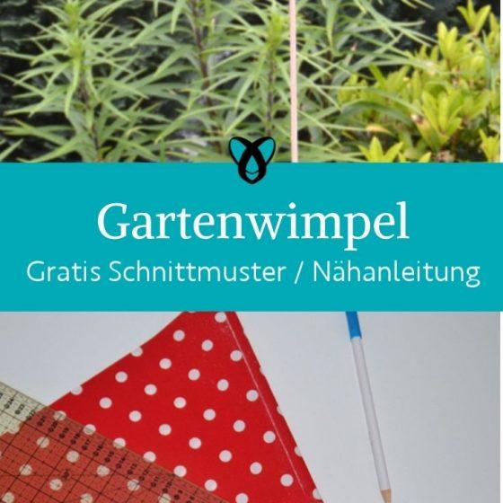 gartenwimpel garten dekoration fruehling sommer draussen gartenspiele kostenlose schnittmuster gratis naehanleitung gartenfest