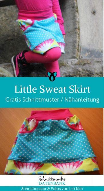 little sweat skirt jersey rock maedchen kinderrock sweat rock kostenlose schnittmuster gratis naehanleitung