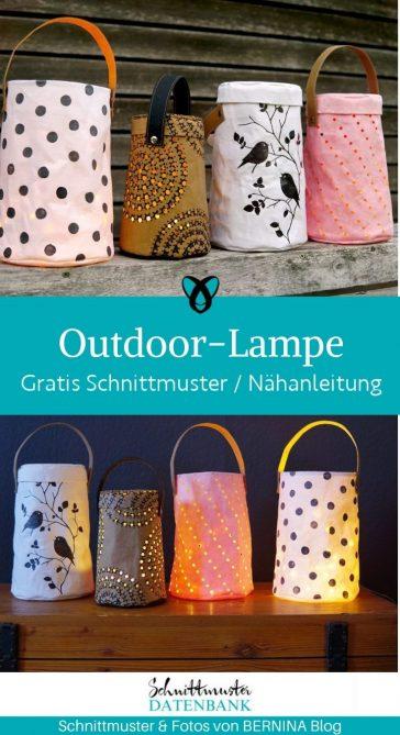 outdoor lampe snap papp garten zuhause naehen fuer windlicht kostenlose schnittmuster gratis naehanleitung