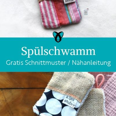 spuelschwamm nachhaltigkeit spueltuch kueche praktisches upcycling kostenlose schnittmuster gratis naehanleitung