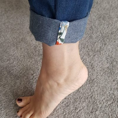 streberstreifen jeans hose aufpeppen upcycling kostenlose schnittmuster gratis naehanleitung