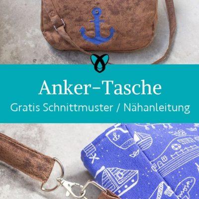 Anker Tasche Umhaengetasche Handtasche maritim kostenlose schnittmuster gratis naehanleitung