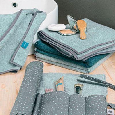 Bad-Utensilo aufbewahrung rolle schminksachen zahnbuerste etui hygieneartikel kostenlose schnittmuster gratis naehanleitung
