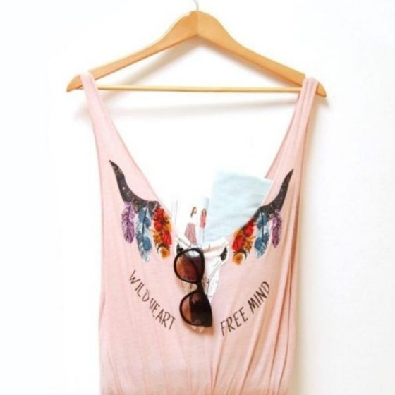 Boho Bag einkaufstasche beutel upcycling shirt nachhaltigkeit no sew projekt kostenlose schnittmuster gratis naehanleitung