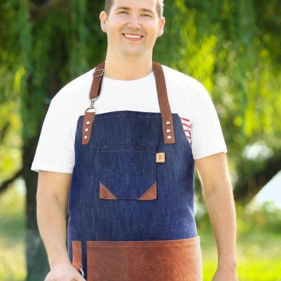 Grillschuerze grillen zuhause feiern fuer maenner geschenke mann schuerze kueche sommer abend essen kostenlose schnittmuster gratis naehanleitung
