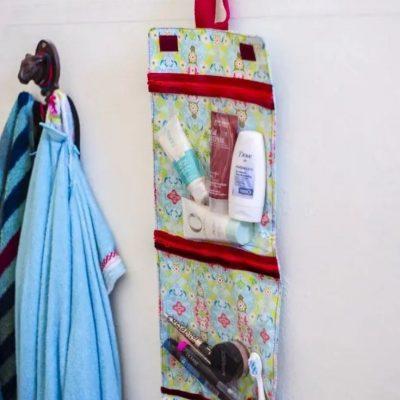 Reise kosmetiktasche kulturbeutel zum aufhaengen etui schminktasche verreisen aufbewahrung hygiene kostenlose schnittmuster gratis naehanleitung
